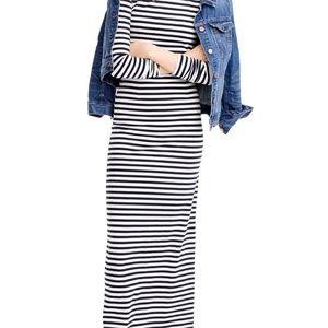JCrew, Navy Striped Maxi Dress, Size 2